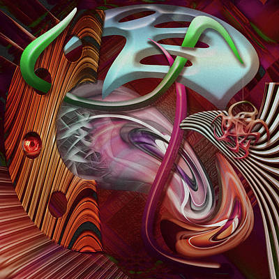 Contemporary Jewellery Digital Art - Strange Days by Andy Young