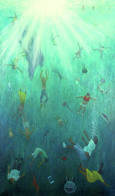 Underwater View Painting - Strange Fish by Tilly Willis