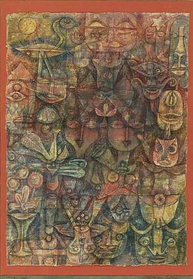 Strange Garden Art Print by Paul Klee
