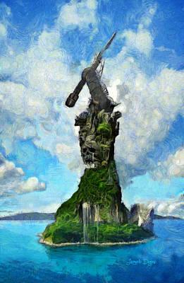Strange Island - Da Art Print
