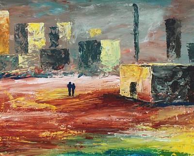 Painting - Strange Land by Angel Reyes