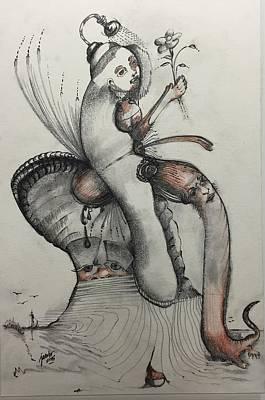 Drawing - Strange Lands by Jacabo Navarro