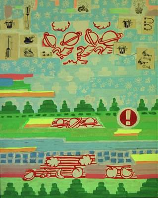 Painting - Strange Radio Epiphenomenon  by Nate Henricks