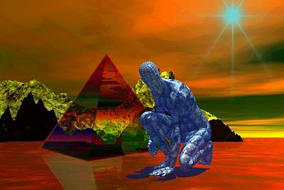 Print featuring the digital art Stranger In A Strange Land by Shadowlea Is