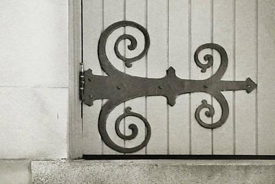 Photograph - Strap Door Hinge by JAMART Photography
