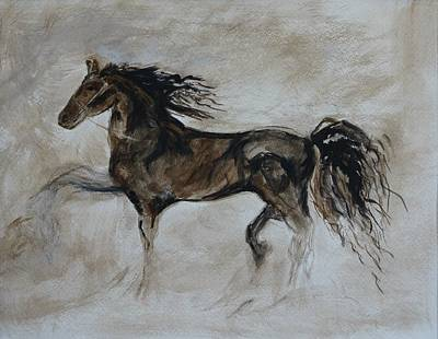 Painting - Strapping Stallion by Leslie Allen