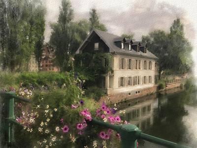 Digital Art - Strasbourg Bridge by Gina Harrison