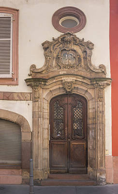 Photograph - Strasbourg Door 09 by Teresa Mucha