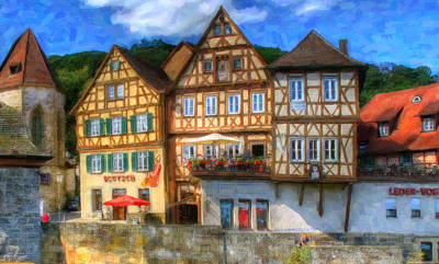 Medieval Style Painting - Strasbourg by Lanjee Chee