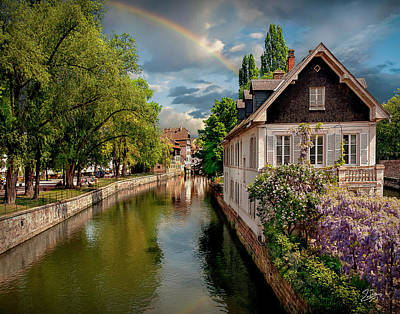 Photograph - Strasbourg River 2 by Endre Balogh