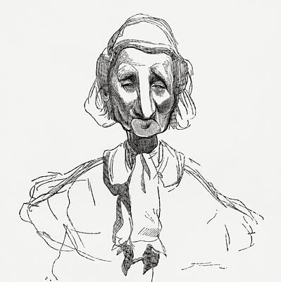 Caricature Drawing - Strasbourgeoise, After Awork By Gustave by Vintage Design Pics