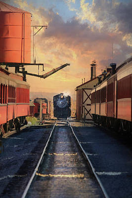 Amish Country Photograph - Strasburg Railroad Station by Lori Deiter