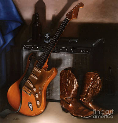 Fenders Painting - Strat by Larry Preston