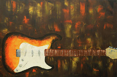 Painting - Strat O Caster II by Chris Fraser