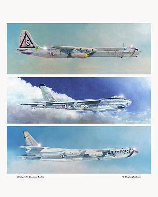 Painting - Strategic Air Command Bombers by Douglas Castleman