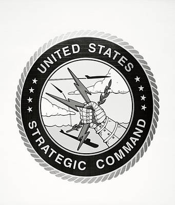 Photograph - Strategic Air Command Insignia - Offutt  Air Force Base by Daniel Hagerman