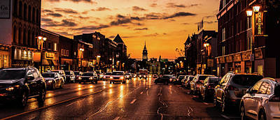 Photograph - Stratford Main Drag At Dusk by Will Bailey