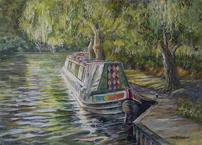 Painting - Stratford Upon Avon Barge by Marty Garland