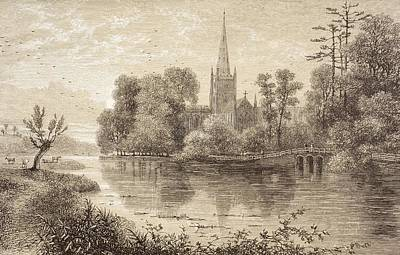 Stratford Drawing - Stratford-upon-avon, England In The by Vintage Design Pics