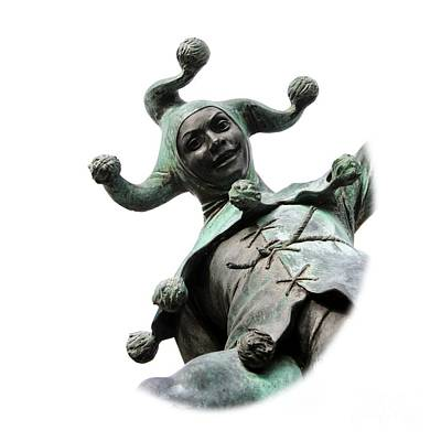 Photograph - Stratford's Jester Statue On Transparent Background by Terri Waters