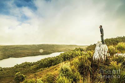 Lookout Photograph - Strathgordon Tasmania Adventurer by Jorgo Photography - Wall Art Gallery