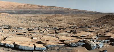 Stratified Rock On Mars Art Print by Science Source