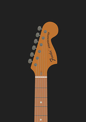Esp Guitars Digital Art - Stratocaster Guitar by Renato Kolberg