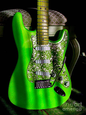Photograph - Stratocaster Plus In Green by Guitar Wacky