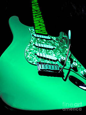 Photograph - Stratocaster Pop Art Teal by Guitar Wacky