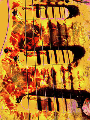 Photograph - Stratocaster Strat Plus Lace Sensors Pop Art by Guitar Wacky