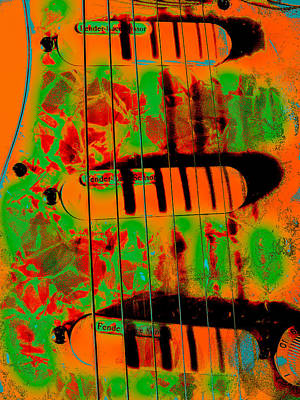 Photograph - Stratocaster Strat Plus Lace Sensors Pop Art 2 by Guitar Wacky