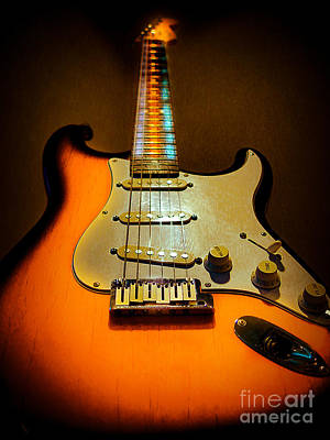 Photograph - Stratocaster Triburst Glow Neck Series by Guitar Wacky