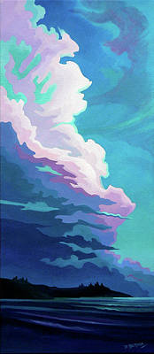 Seascape. Headland Painting - Stratocumulus by Dianne Bersea