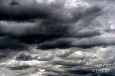 Photograph - Stratocumulus Opacus Or Layered Stratified  by Jim Corwin