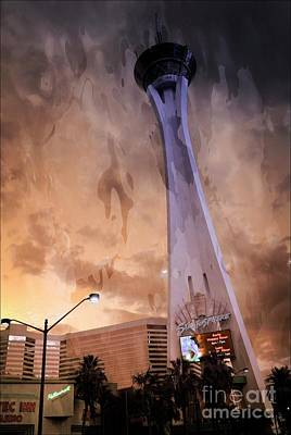 Mixed Media - Stratosphere Tower Las Vegas by Bob Pardue