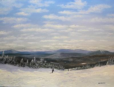 Painting - Stratton Skiing by Ken Ahlering