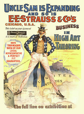 Painting - Strauss Jeans by Gary Grayson