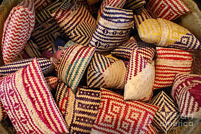Photograph - Straw Bags Oaxaca Mexico by John  Mitchell