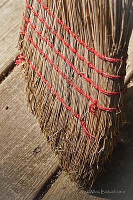 Photograph - Straw Broom by Wilma  Birdwell