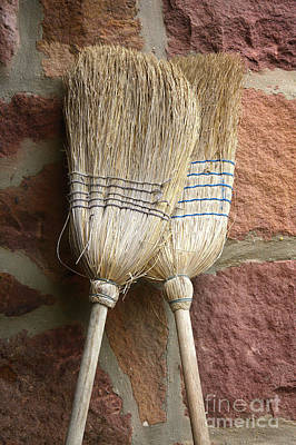 Photograph - Straw Brooms In Love by Jan Brons