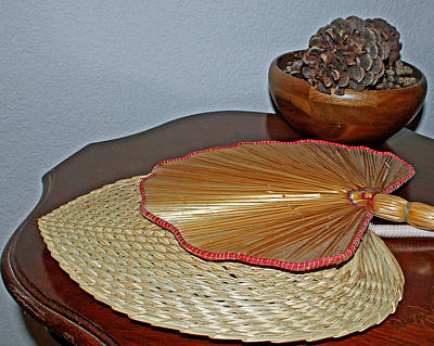 Photograph - Straw Fans by Judy Vincent