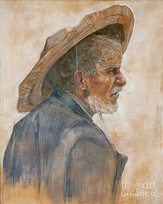 Painting - Straw Hat by Jonathan Wommack