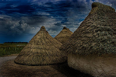 Stonehenge Photograph - Straw Huts by Martin Newman