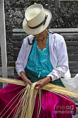 Hand-weaving Photograph - Straw Weaving Is A Dying Art by Al Bourassa