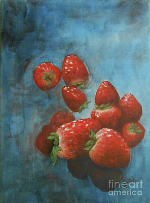 Painting - Strawberries by Jane See