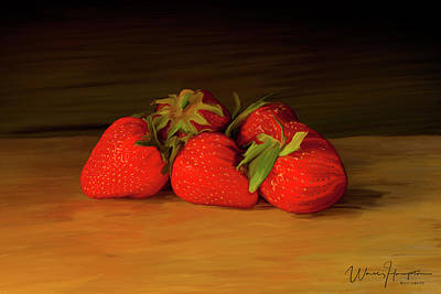 Painting - Strawberries 01 by Wally Hampton
