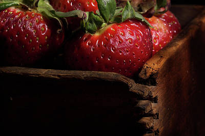 Photograph - Strawberries 3 by Mike Eingle