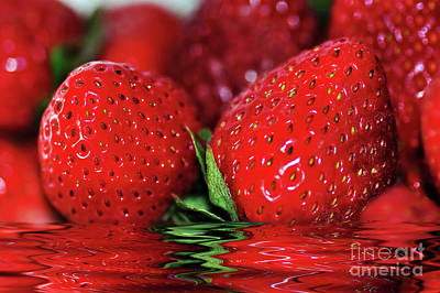 Photograph - Strawberries Afloat By Kaye Menner by Kaye Menner