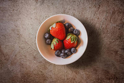 Eaten Photograph - Strawberries And Blueberries by Scott Norris