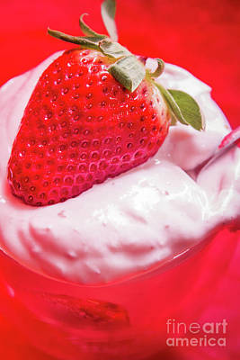 Dessert Photograph - Strawberries And Cream by Jorgo Photography - Wall Art Gallery